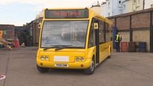 Powered by daylight; two new buses take to the streets