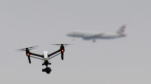 UK's first near-miss between plane and multiple drones reported