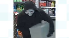 Masked man robs petrol station three times