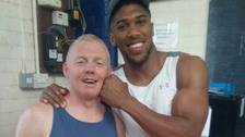 Joshua's coach reveals how the boxer broke his wrist
