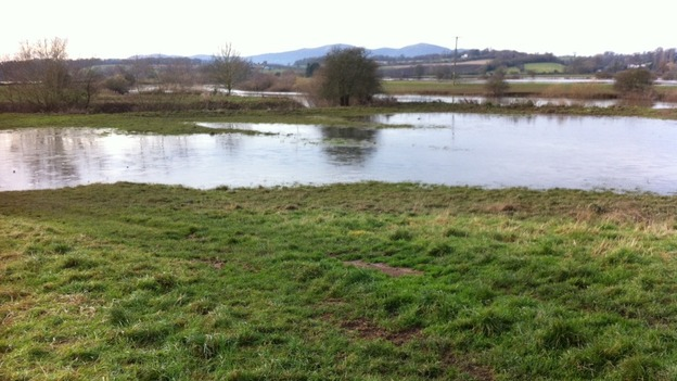 A lot less water in Kempsey today (2 December)