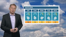 Mainly fair overnight, with sunny periods on Saturday