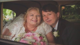 Couple tie the knot after near-fatal heart attack