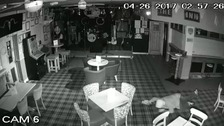 Burglar steals hundreds from pub after crawling on floor