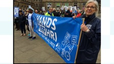 Hundreds march through Huddersfield in support of NHS