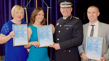 Officers in knife attack call-out honoured with award