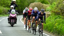 James Gullen leads the way in the Tour de Yorkshire.