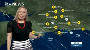 Philippa has Saturday evening's weather for the west