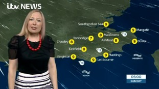 Philippa has Saturday evening's weather for the east