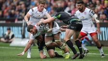 Sean Reidy of Ulster looks to make ground.