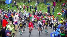 The riders during stage two of the Tour de Yorkshire 2017.