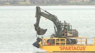 World War Two rocket recovered from Harwich harbour