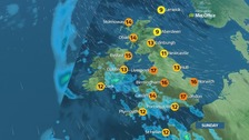 Windy with rain moving from the south-west