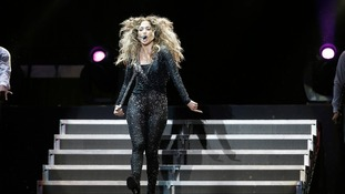 "Jennifer Lopez performs during her ""Dance Again World Tour"" concert in Kuala Lumpur."