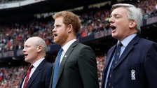 Harry joins crowd at Twickenham for Army v Navy match