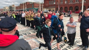 The torch relay was launched in Blackpool