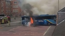 VIDEO: Bus station re-opens after coach bursts into flames