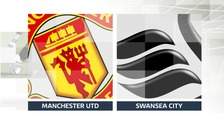 Swansea trail against Manchester United at half time