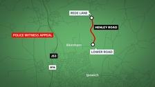 Motorcyclist dies after collision between Akenham and Ipswich