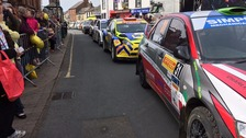Brampton comes to a halt for rally finish