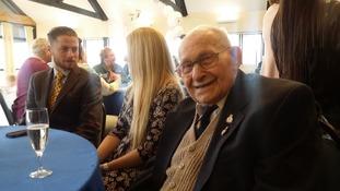 Veteran poppy seller celebrates 100th birthday