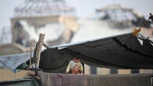 Refugee camp Darul-Aman in Kabul, Afghanistan