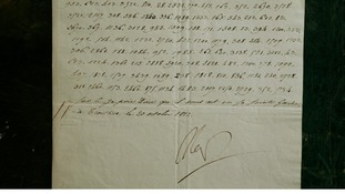 The letter, written in a secret code, sold for ten times its estimated presale price