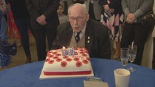 Veteran poppy seller celebrates 100th birthday