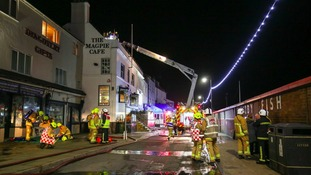 Crews were called to the scene at 10.15PM