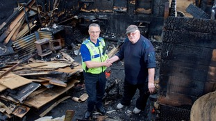 David Chilton was tackling a small electrical fire when the explosion happened.
