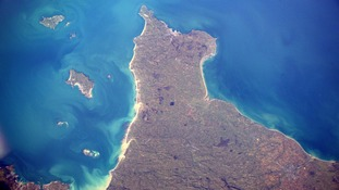Astronaut takes space shot of Channel Islands
