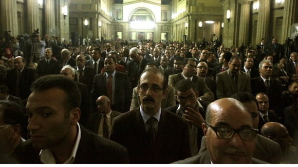 An earlier meeting of Egypt's Judges' Club that took place in Cairo