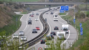A general view of the Autobahn in Germany.