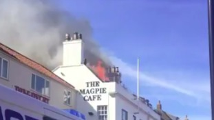Magpie Cafe is on fire for second time in two days
