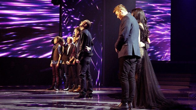 X Factor semi-finalists lined up for results.