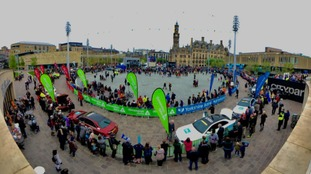 The third day of the race began in Bradford's Centenary Square