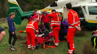 Man survives 300-foot fall from Lake District crag
