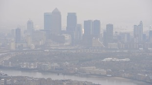 Air pollution over London.
