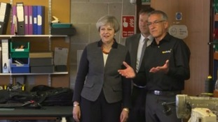 Theresa May visits business