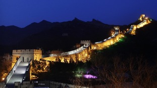 The Baldaling section of the Great Wall of China before Earth Hour