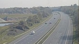One lane has reopened on the westbound carriageway between J1 and J3.