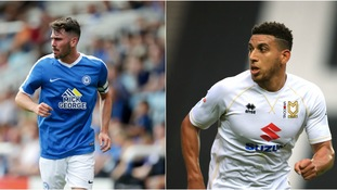 Michael Smith (left) has been transfer listed by Peterborough, while Daniel Powell (right) hasn't been offered a new deal at MK Dons.