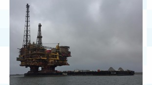 One of Britain's biggest oil rigs arrives on Teesside