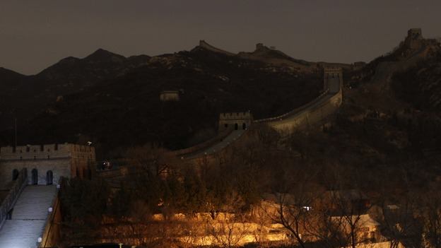 The Balding section of the Great Wall of China after Earth Hour