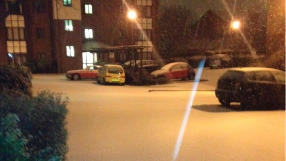 Jesmond in Newcastle was covered in a blanket of snow 