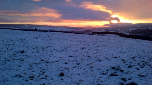 Snow fell across Upper Teesdale overnight