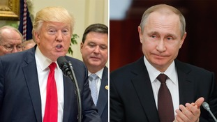 Donald Trump and Vladimir Putin in 'very good' phone call about Syria