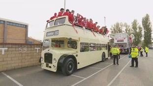 In Pictures: Lincoln City open-top bus parade