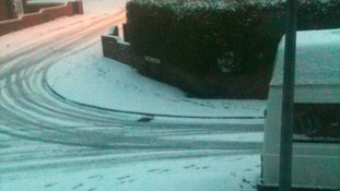 Shildon in County Durham coated in snow from last night