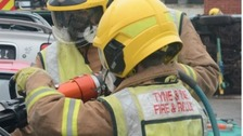 Three fire engines were sent to tackle the flames.